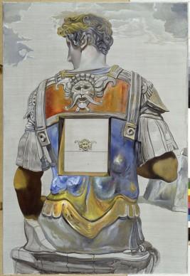 Salvador Dalí, Sin título. Giuliano de Médici según la tumba de Giuliano de Médici de Miguel Ángel, 1982 circa, olio su tela, 140 x 95 x 4,5 cm. ©Salvador Dalí, Fundació Gala-Salvador Dalí by SIAE 2016