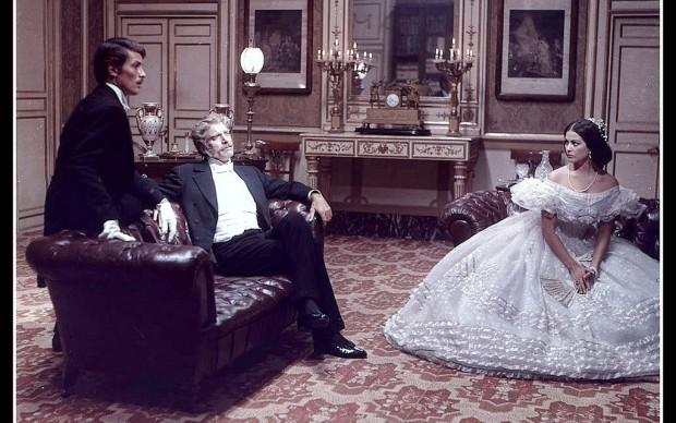 Alain Delon, Burt Lancaster e Claudia Cardinale nel film Il Gattopardo, regia di Luchino Visconti, photo by Angelo Frontoni, 1963