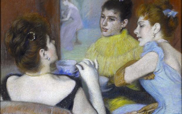 Federico Zandomeneghi, Il tè, 1893, pastello, cm. 48x59, Collezione Sacerdoti - Ferrario