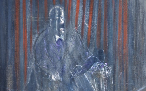 Francis Bacon Study after Velazquez,1950 Oil on canvas 198 x 137 cm Private collection © The Estate of Francis Bacon. All rights reserved. DACS/VEGAP. Bilbao, 2016 Photo: Prudence Cuming Associates Ltd.