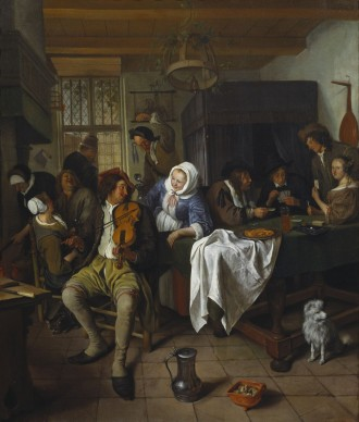 Jan Steen (1626-1679), Interior of a Tavern with Card Players and a Violin Player, c.1665, Royal Collection Trust / © Her Majesty Queen Elizabeth II 2016