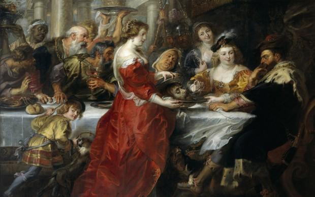 Pieter Paul Rubens, Banchetto di Erode, 1635-1638, circa olio su tela, cm 208 x 264. Edinburgh, Scottish National Gallery