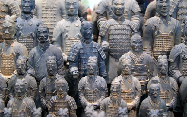 Esercito di terracotta, Mausoleo del primo imperatore Qin a Xi'an, Cina