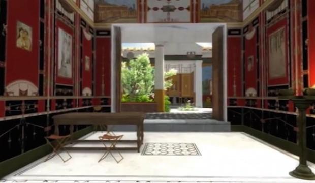 villa pompei ricostruzione video 3d