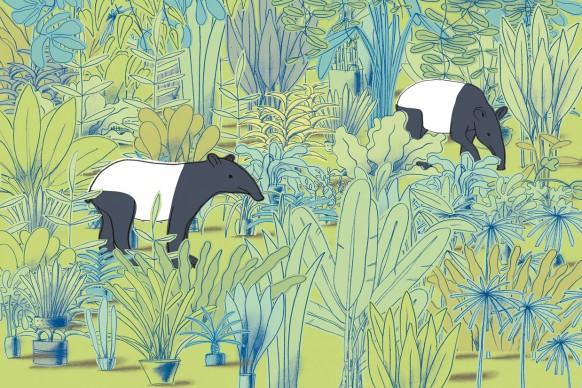 Un'illustrazione di Guido Scarabottolo, ospite d'onore alla 34esima edizione de 'Le immagini della fantasia'