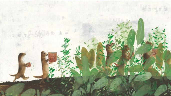 Un'illustrazione di Linda Wolfsgruber, presente alla 34esima edizione de 'Le immagini della fantasia'