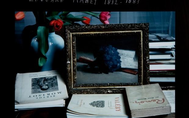 "Duane Michals, 1932 dalla serie ""Edouard Manet 1832-1883"", 1983 stampa cibachrome, 20,3 x 25,4 cm. Galleria civica di Modena, fondo Franco Fontana"