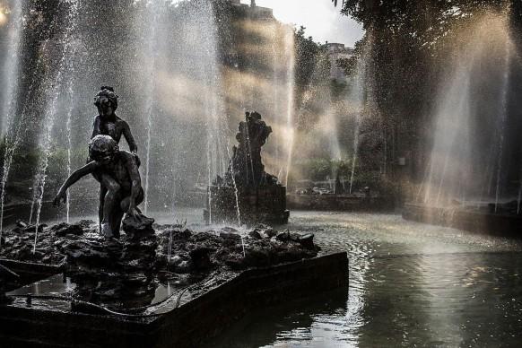Cristiano_Drago. Sunbean in Fountain - Giardino Inglese - Palermo (PA), 2016, tra i vincitori di Wiki Loves Monuments Italia