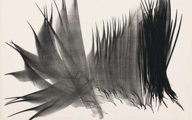 Hans Hartung (Lipsia 1904 – Antibes 1989), L 117, 1963, litografia, 537 x 714 mm, Cabinet d'arts graphiques, Musées d'art et d'histoire de la Ville de Genève, don de la Fondation Hartung-Bergman, Antibes, inv. E 2009-1944. Foto André Longchamp. Courtesy Cabinet d'arts graphiques, Musées d'art et d'histoire de la Ville de Genève. © 2016, ProLitteris, Zurich
