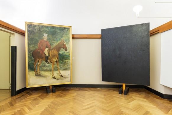 La finestra sul cortile, installation view della mostra a cura di Luca Massimo Barbero, in corso fino al 26 febbraio 2017 presso la Galleria d'Arte Moderna di Milano