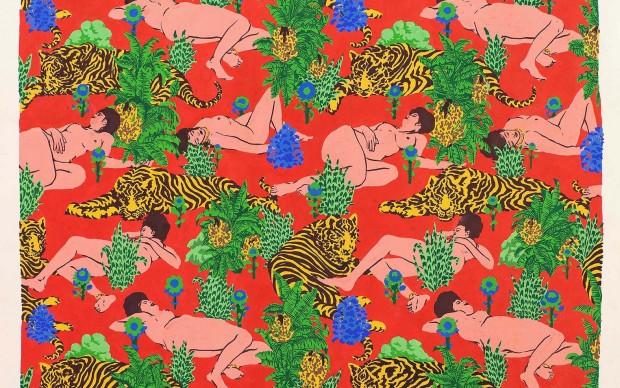 Reality Check. TANT-SAFARI, gouache on paper, 49x48 cm, 2016 - Galleria Varsi