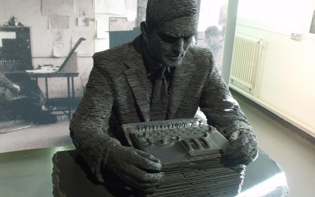 Elliott Brown, Bletchley Park - Block B - The Bletchley Park Story - Statue of Alan Turing - by Stephen Kettle