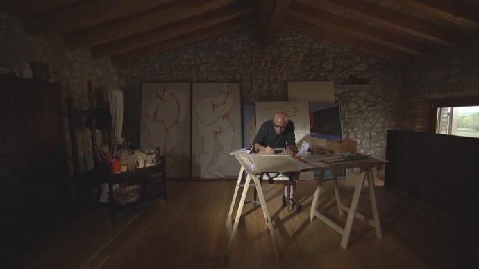 Una scena tratta da 'Tra le immagini di Mina – L'arte di Mauro Balletti'