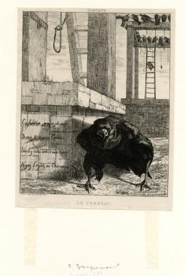 Félix Bracquemond, Le Corbeau, 1854 © MAH Genève, inv. E 2009-0311. Photo: MAH CdAG