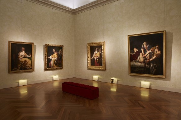 """Installation view della mostra  """"Artemisia Gentileschi e il suo tempo"""", al Museo di Roma Palazzo Braschi dal 30 novembre 2016 al 7 maggio 2017"""
