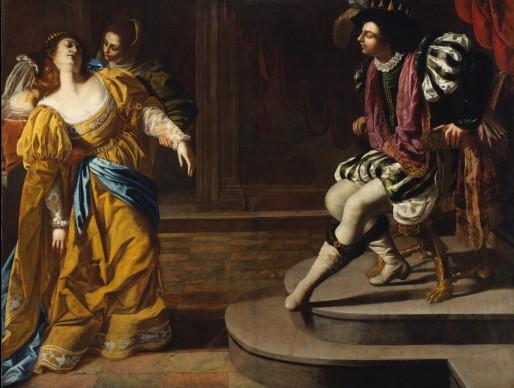 Artemisia Gentileschi,  Ester e Assuero, 1626-29 ca.  Olio su tela, 208,3×273,7 cm, lent by The Metropolitan Museum of Art,  gift of Elinor Torrance Ingersoll, 1969  © The Metropolitan Museum of Art