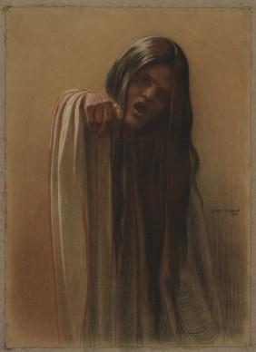 Carlos Schwabe, Étude pour «La Vague», 1906 © MAH Genève, inv. 1985-0005. Photo: Bettina Jacot-Descombes