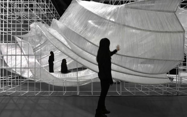 Transparent Shell, Guangzhou Design Week, Cina, 2016. Photo credit: PONE Architecture