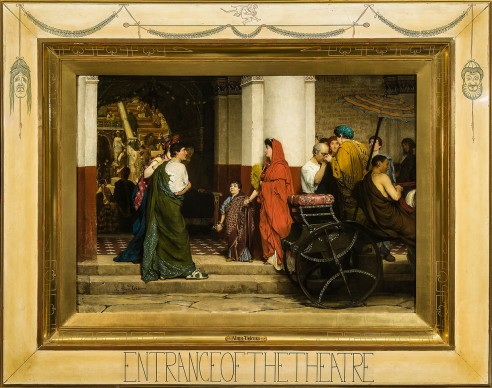 Sir Lawrence Alma-Tadema, The Entrance of the Theatre, 1866, 4. Collection Fries Museum, Leeuwarden – acquisition supported by the Rembrandt Foundation (in part through its Saskia Fund), the BankGiro Lottery, the Mondriaan Fund, the Wassenbergh-Clarijs-Fontein Foundation and the Friends of the Fries Museum. Photo © Martin Rijpstra