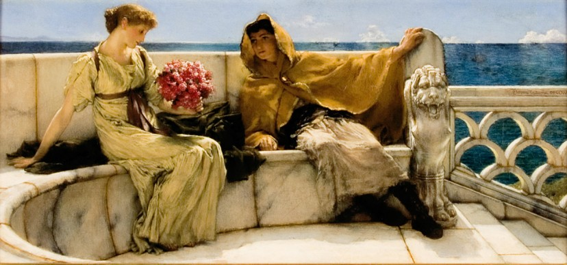 Sir Lawrence Alma-Tadema, Amo Te Ama Me, 1881, Collection Fries Museum, Leeuwarden  – acquisition supported by the Rembrandt Foundation, the Mondriaan Fund and the Wassenbergh-Clarijs-Fontein Foundation