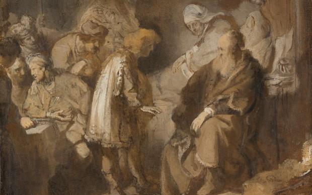 Rembrandt van Rijn, Joseph Telling His Dreams, 1633, grisaille, Rijksmuseum, Amsterdam, purchased with the support of the Vereniging Rembrandt and the Stichting tot Bevordering van de Belangen van het Rijksmuseum