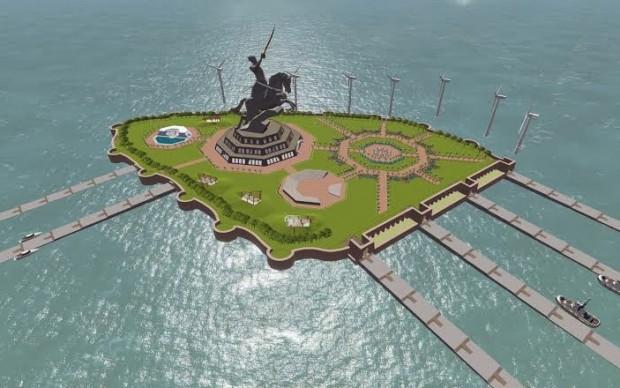 Shivaji-Maharaj-Memorial statua mumbai india record altezza