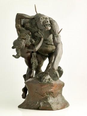 Emmanuel Frémiet (1824–1910), Gorilla Abducting a Woman, 1887, Musée des Beaux-Arts de Dijon. Photo: © Direction des Musées et du Patrimoine de Dijon/François Jay