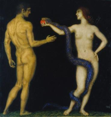 Franz von Stuck, (1863–1928), Adam and Eve, 1920–1926, Städel Museum, Frankfurt am Main. Photo: Städel Museum – ARTOTHEK