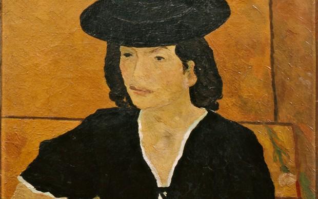 Renato Birolli, Signora con cappello (ritratto di Enrica Cavallo), 1941, foto Paolo Vandrasch