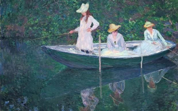 Claude Monet, En Norvégienne, 1887 Oil on canvas, 97,5 x 130,5 cm Musée d'Orsay, Paris, legacy ofPrincesse Edmond de Polignac, 1947 Photo: © RMN-Grand Palais (Musée d'Orsay) / Hervé Lewandowski