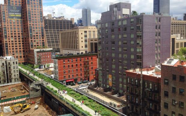 David Shankbone, The Highline aerial view, New York, 2014, fonte Flickr