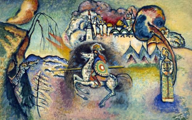 Vasilij Kandinskij San Giorgio, 1915 Olio su tela, 100x150 cm Tretyakov Gallery, Mosca