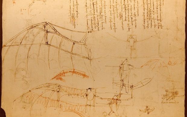Leonardo codice del volo by Luc Viatour via West Virginia University Libraries