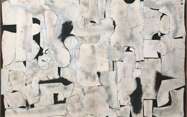 Conrad Marca-Relli East Wall (LL-10-59), 1959 Collage and mixed media on canvas 197.5 x 305 cm Private collection, Parma. Courtesy Archivio Marca-Relli © Archivio Marca-Relli, Parma. Photo: Roberto Ricci