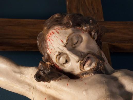 Johann Georg Pinsel , Christ on the Cross (detail), 1758 the latest, Lviv National Art Gallery