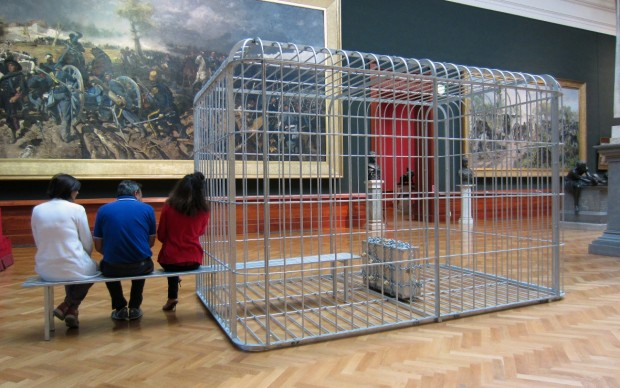 H.H.Lim_The cage the bench and the luggage_201