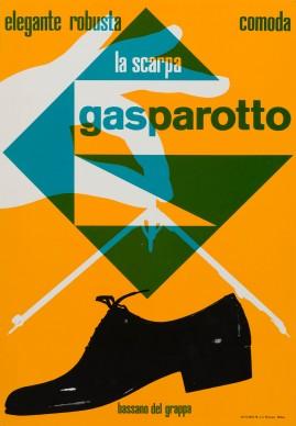 Heinz Waibl, 'Elegante, robusta, comoda la scarpa Gasparotto'. Photo credit Calzaturificio Gasparotto, Bassano del Grappa, 1959