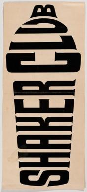 Heinz Waibl, Logotipo 'Shakerclub'. Photo credit Rivista dell'associazione barmen e associati, Milano, 1961