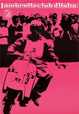 Heinz Waibl, Manifesto 'Lambretta club d'Italia'. Photo credit Milano, 1959
