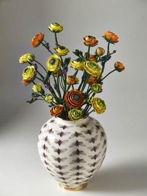 Bertozzi & Casoni, Vaso con mazzo di fiori, 2016, ceramica policroma, cm. h. 73 x diam. 56