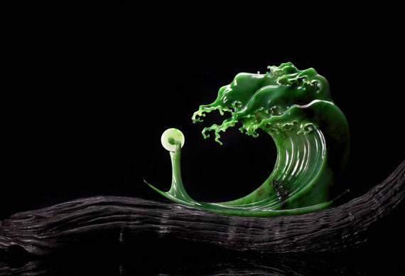 QIU Qijing, Capriccio d'acqua, giada