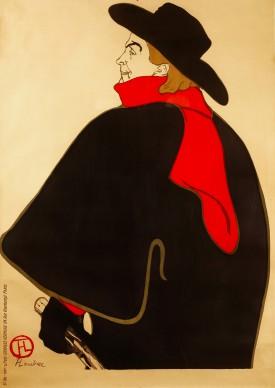 Henri de Toulouse-Lautrec, Aristide Bruant, dans son Cabaret (Before Letters), 1893, Color Lithography, 127,3x95 cm © Herakleidon Museum, Athens Greece