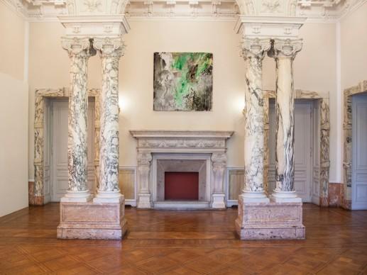 John M. Armleder - Stockage, exhibition view della mostra presso l'Istituto Svizzero di Roma - Villa Maraini