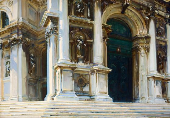 John Singer Sargent, Venezia, Santa Maria della Salute, 1909, olio su tela, cm 71 x 101