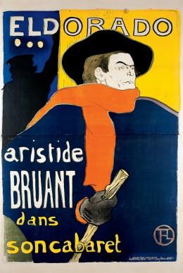 Henri de Toulouse-Lautrec, Eldorado, A. Bruant dans son Cabaret, 1892, Color Lithography, 138x96 cm © Herakleidon Museum, Athens Greece