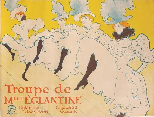 Henri de Toulouse-Lautrec, La Troupe de Mademoiselle Églantine, 1896, Color Lithography, 61,7x80,4 cm © Herakleidon Museum, Athens Greece