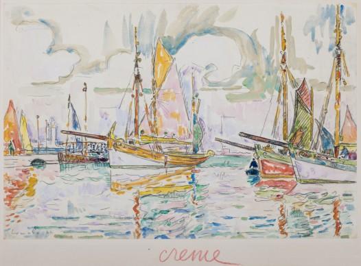 Paul Signac, Barche a Lumalo, 1922, acquarello su carta, cm 29.9 x 44.9