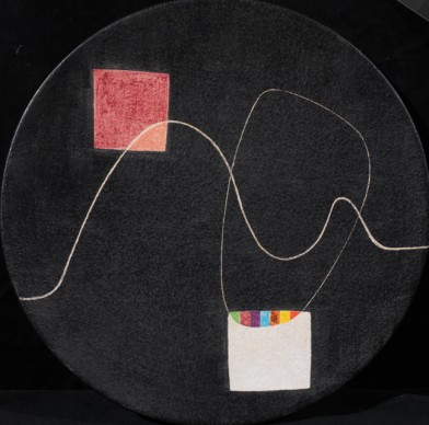 Alberto Burri, Piatto, 1949, maiolica policroma, Tornabuoni Arte, Firenze