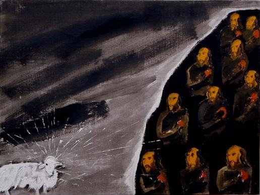 Enzo Cucchi, La monaca, 2004, Collezione privata, Firenze, courtesy Tornabuoni Arte