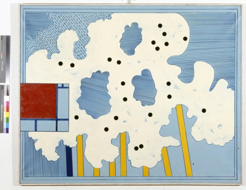 Tano Festa, Cielo Newyorkese, 1966